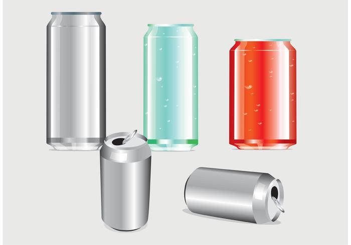 Modèle de soda can vecteur