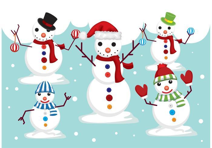 Snowmen Vectors