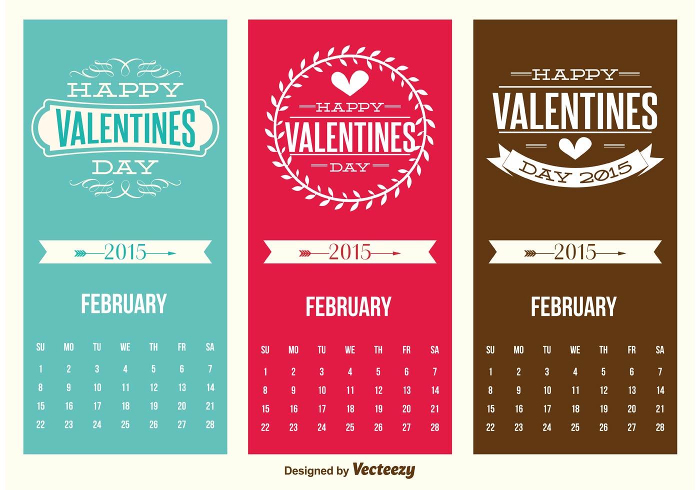 Cute Mini Valentines Day Calendar Cards