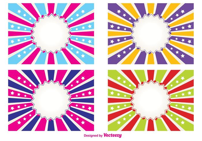 Bright Sunburst Labels