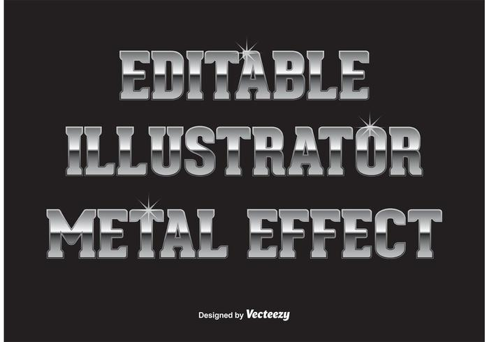 Metall text effekt