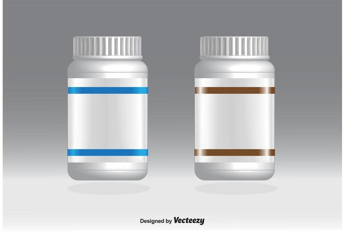 Bottiglie di pillola vuote