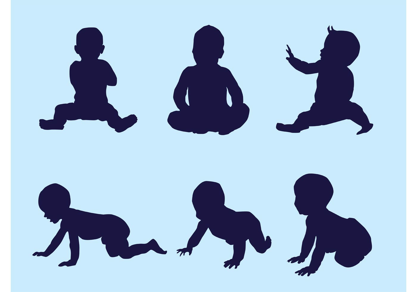 Vector Baby Silhouettes  Download Free Vector Art, Stock Graphics