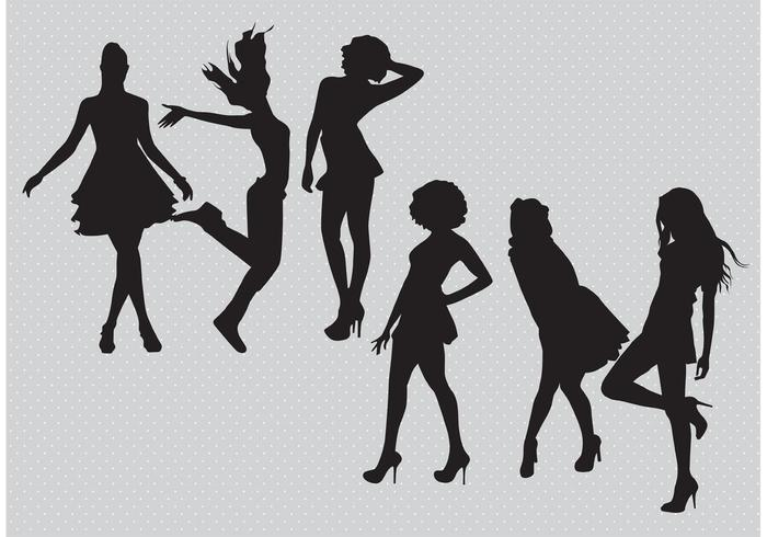 Silhouette Girls Vectors