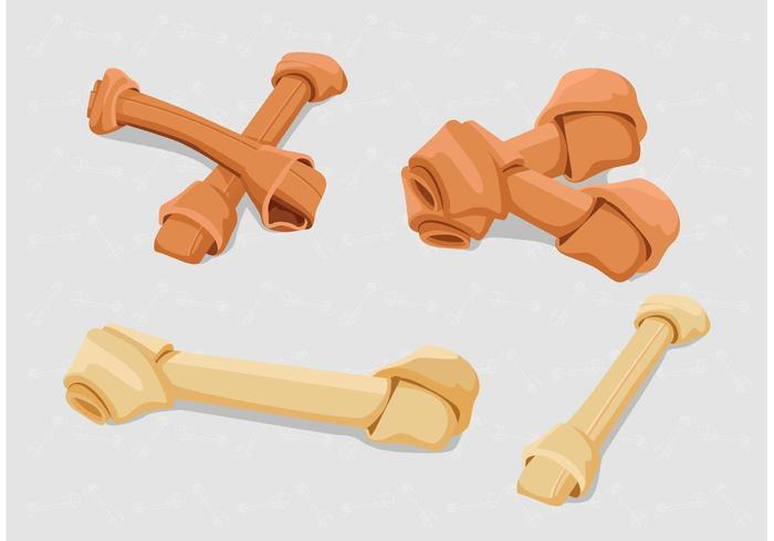 Dog Bone Isolated Vectors