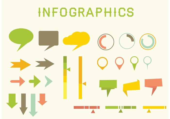 Platt vektorinfographics