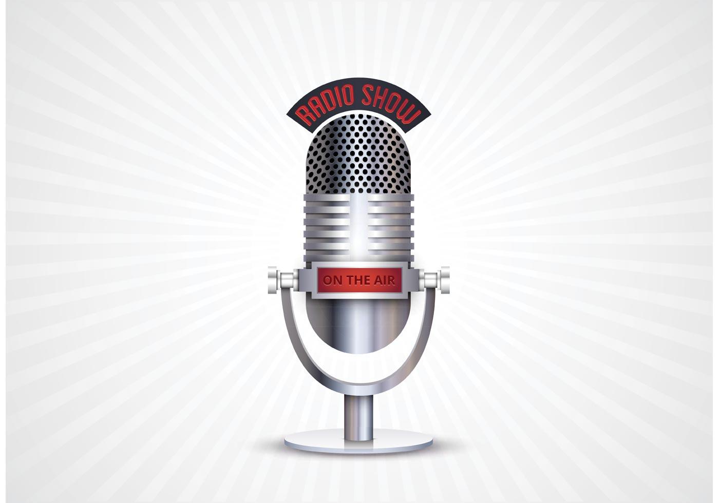 Free Retro Microphone Vector - Download Free Vector Art ...
