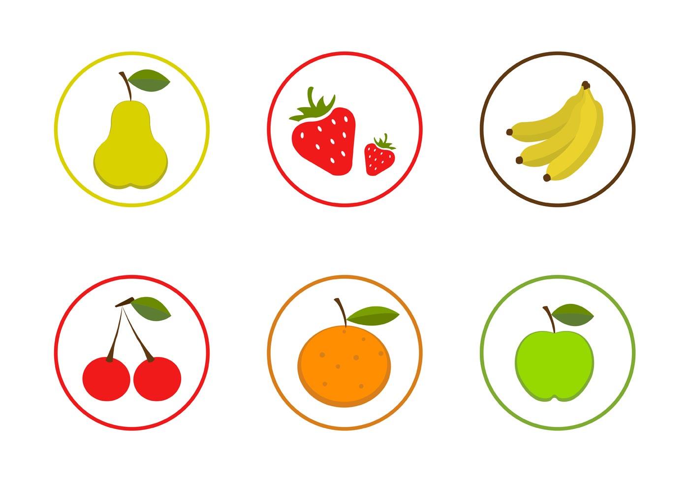 Vector Fruit Icon Set Download Free Vector Art Stock