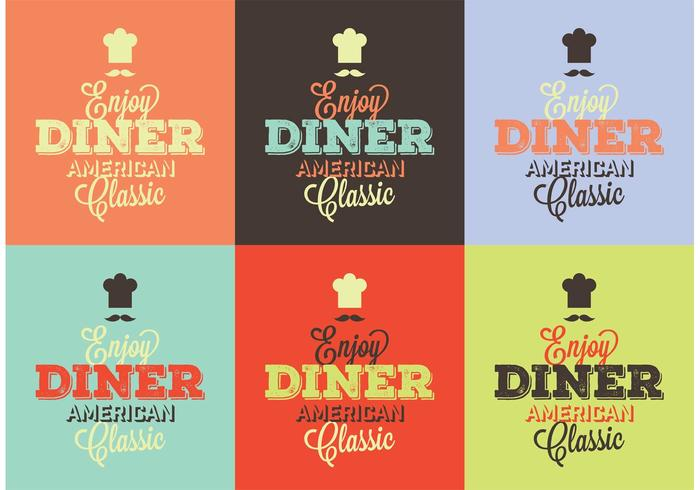 Typographic 50s Diner Signs