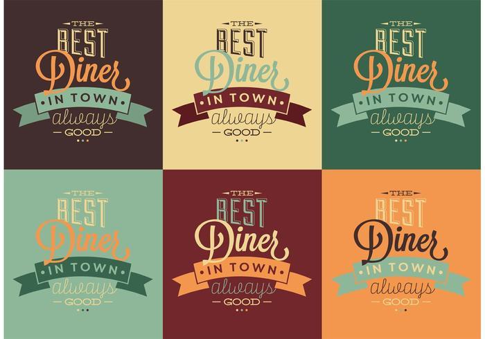 I migliori segni tipografici Diner anni '50