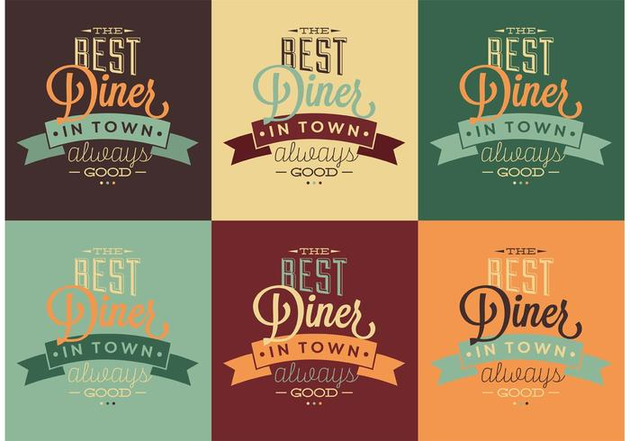 Best 50s Diner Typographic Signs