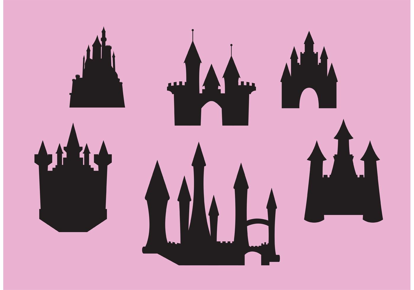 Princess Castle Vector Set Download Free Vector Art Stock Graphics Amp Images