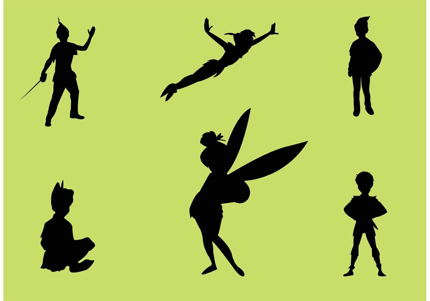 peter pan silhouette free vector art 10899 free downloads