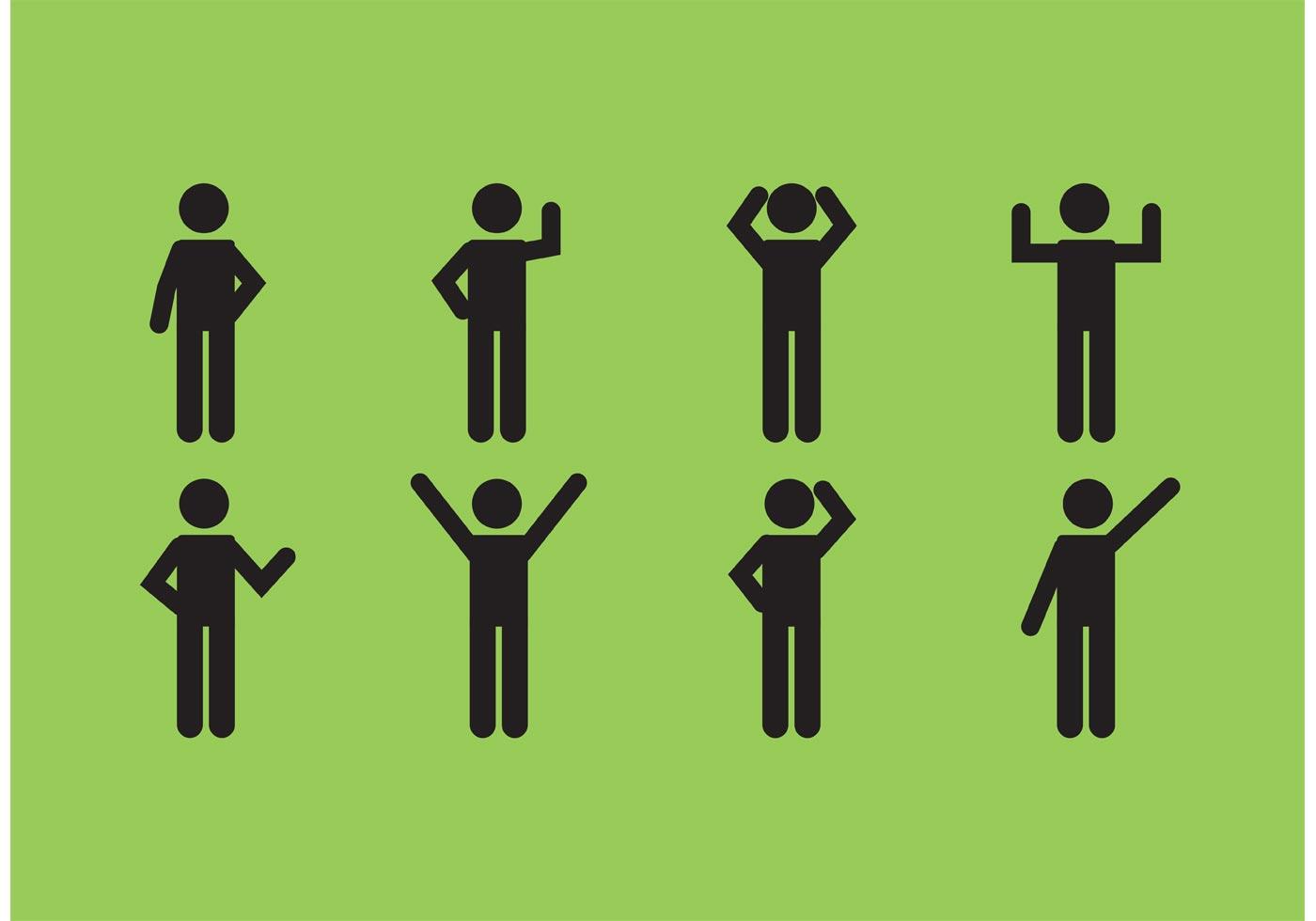 male stick figure icon set download free vector art stock rh vecteezy com vector graphics stick figure vector stick figure walking