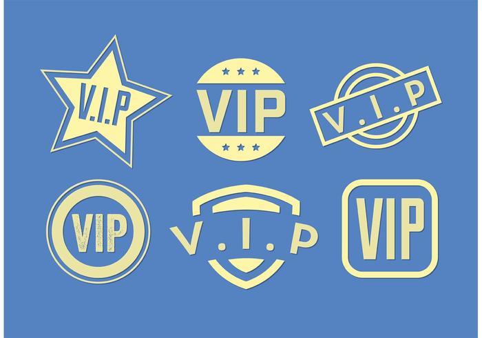 Set of Vip Icon Vectors