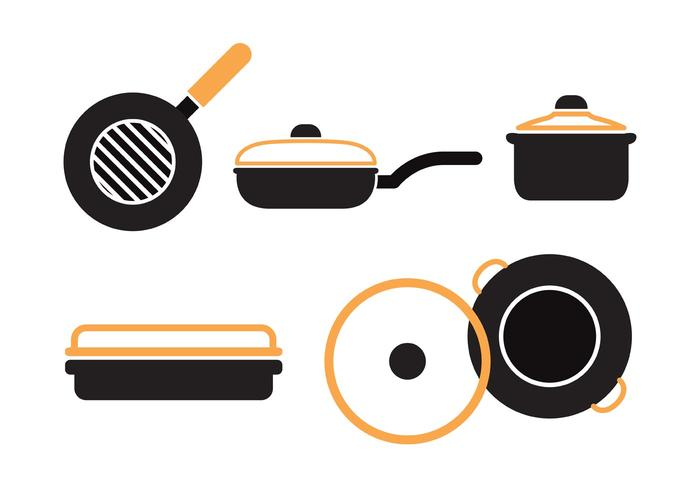 Pan with Handle Vector Set