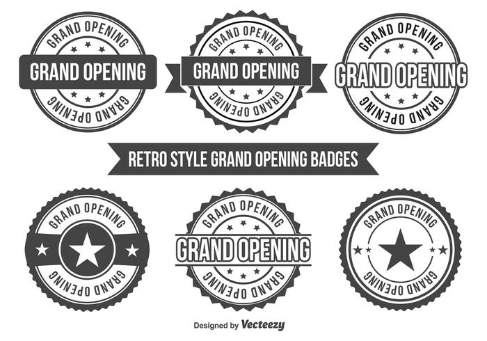 Grand Opening Badges