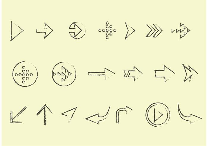 Sketchy Arrow Vector Set