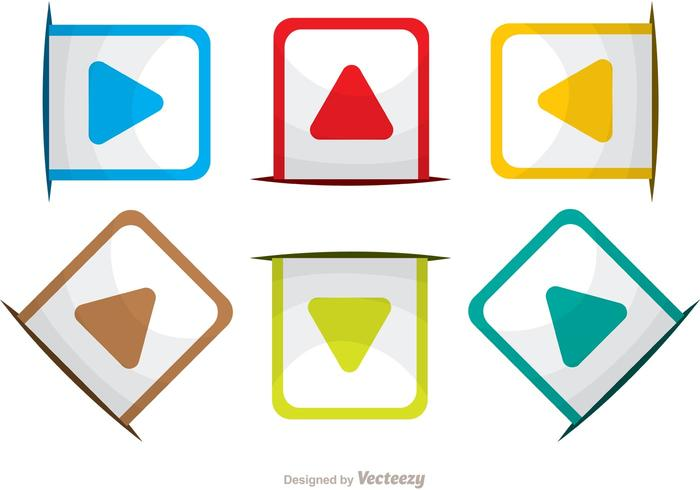 Rounded Square Arrow Icons Vector Pack