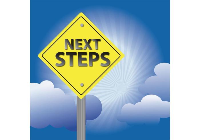 Next Steps Sign Background