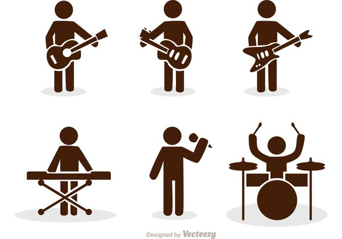 band stick figure icons vector pack download free vector art rh vecteezy com stick figure vector graphics stick figure vector art