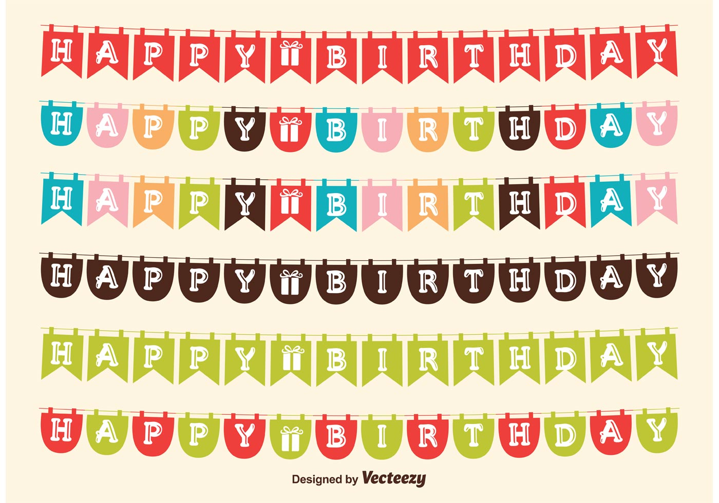 Birthday flag banners download free vector art stock