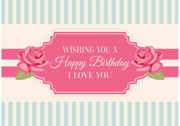 Shabby Chic Style Birthday Card - Download Free Vector Art, Stock ...