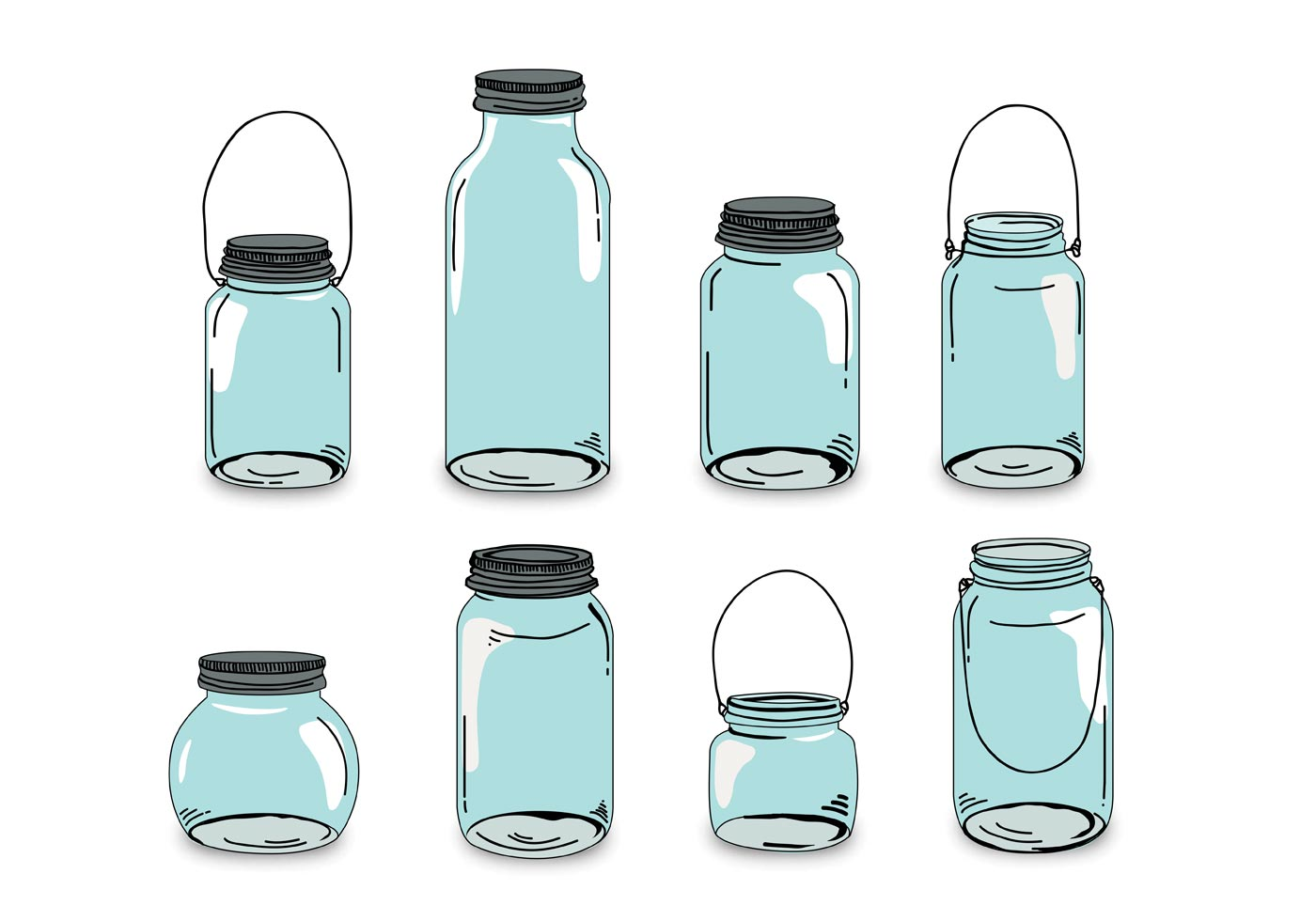 Shabby Chic Mason Jar Free Vector Art - (653 Free Downloads)
