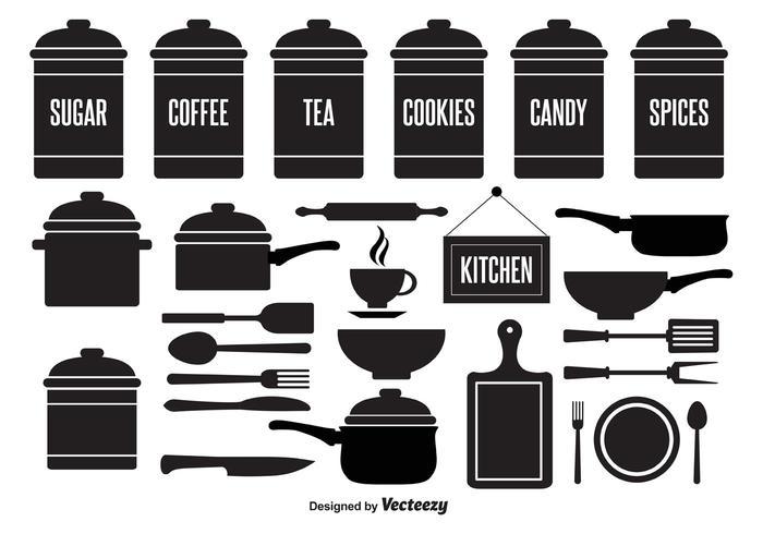 Kitchen Element Vector Set