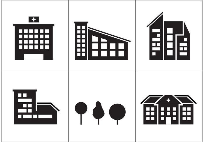 Icônes de construction de l'hôpital