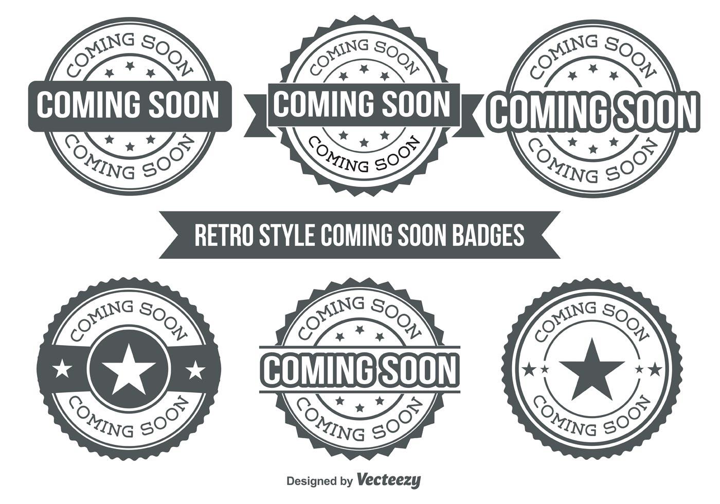Coming Soon Badges Download Free Vector Art Stock