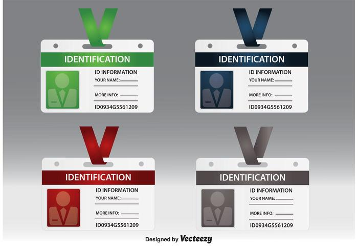 Identification Card Vectors