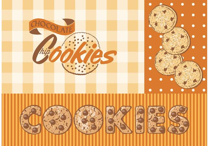 Free Vector Chocolate Chip Cookies