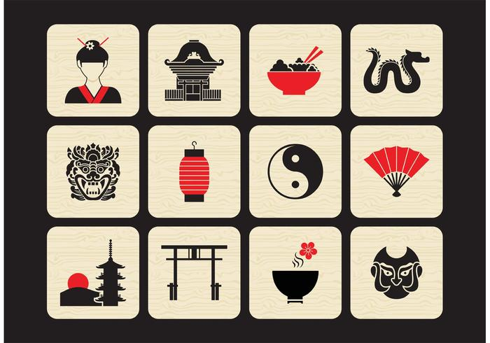 Free Chinese Vector Icon Set