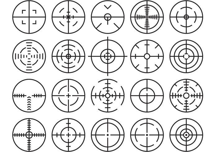 Crosshairs-vektorer vektor