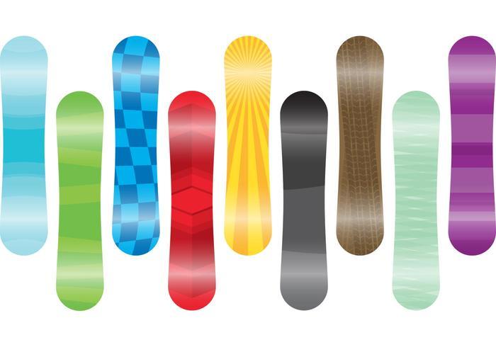 Vecteurs de snowboard vecteur