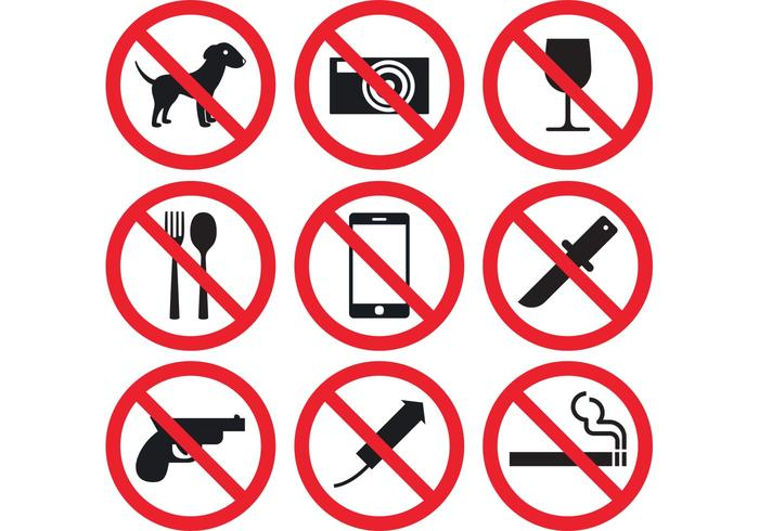 Prohibition Sign Vectors