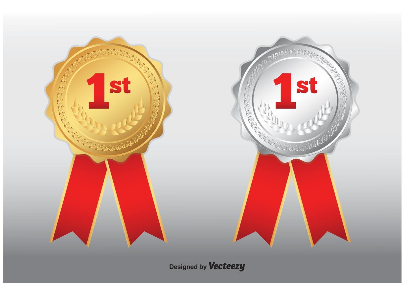 Medalla De Oro Del Primer Lugar Vector Imágenes De
