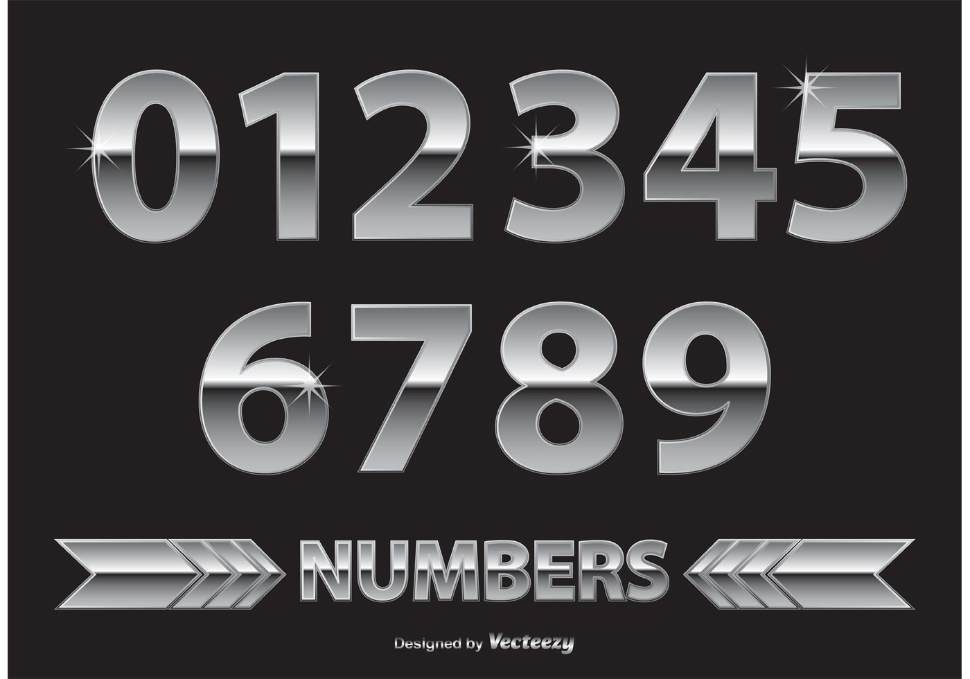 chrome metal numbers