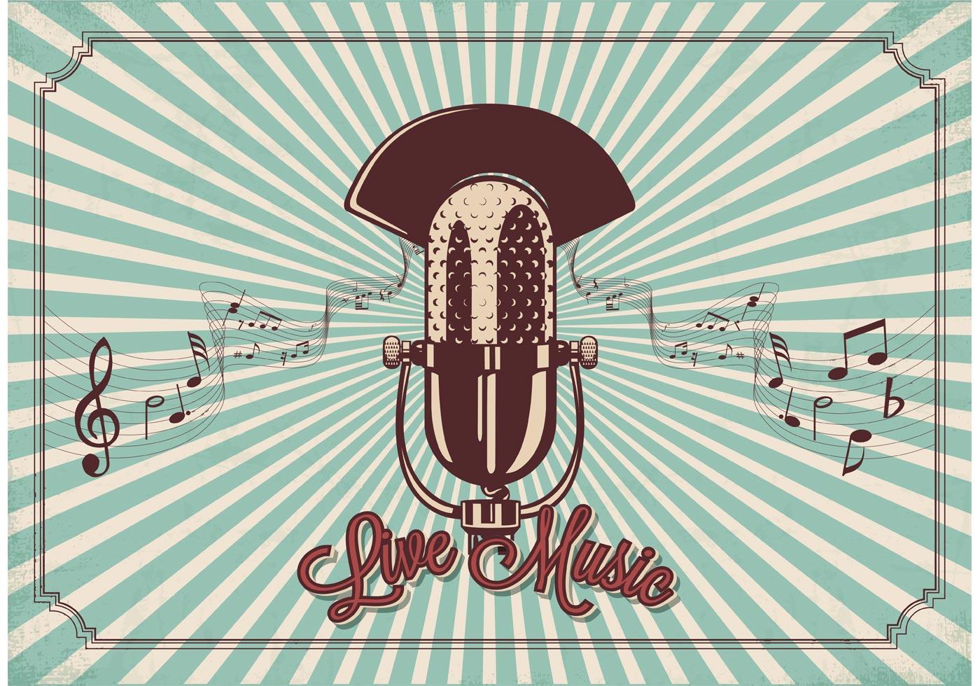 Vintage Microphone Vector Download Free Vector Art