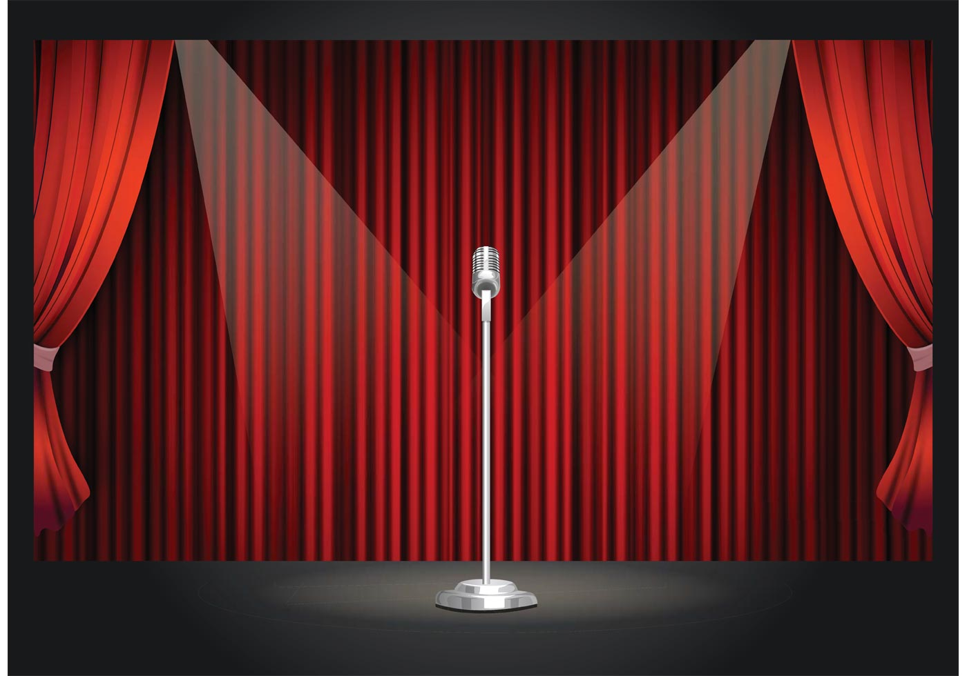 Pics photos theatre curtain red gold black background - Free Vector Retro Theater Stage Download Free Vector Art