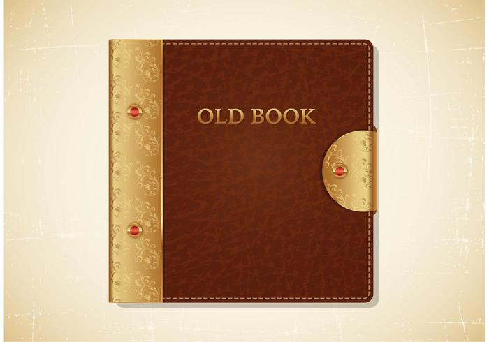 Free Old Book Leather Cover Vector