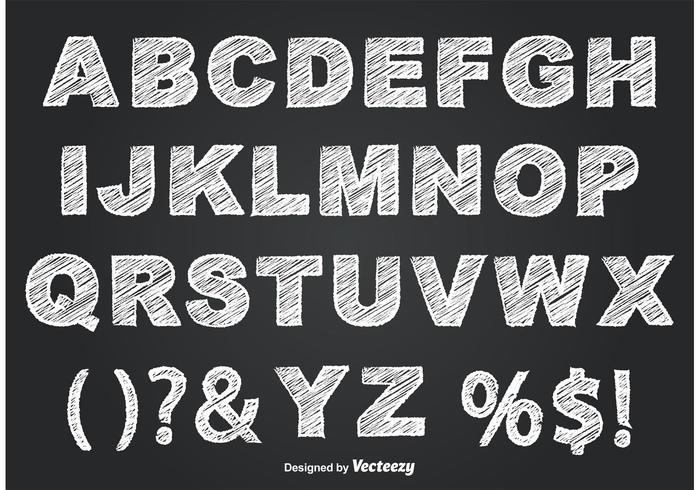 Alfabeto Estilo Chalkboard