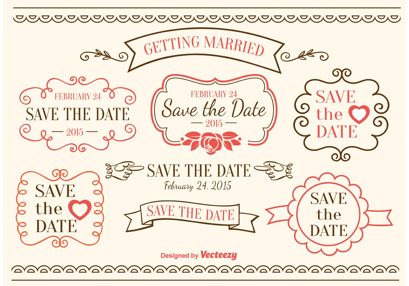Save the date elements download free vector art stock graphics images for Save the date vector