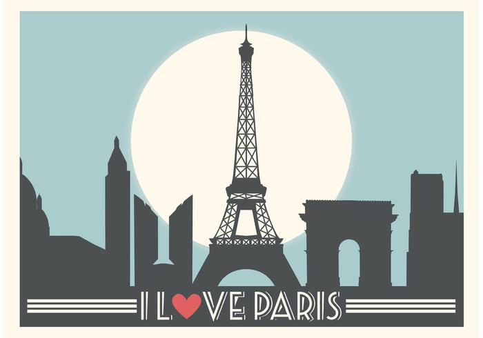 Paris Vector Background  Download Free Art Stock