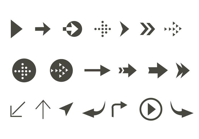 Free Vector Arrow Aign Icon Set