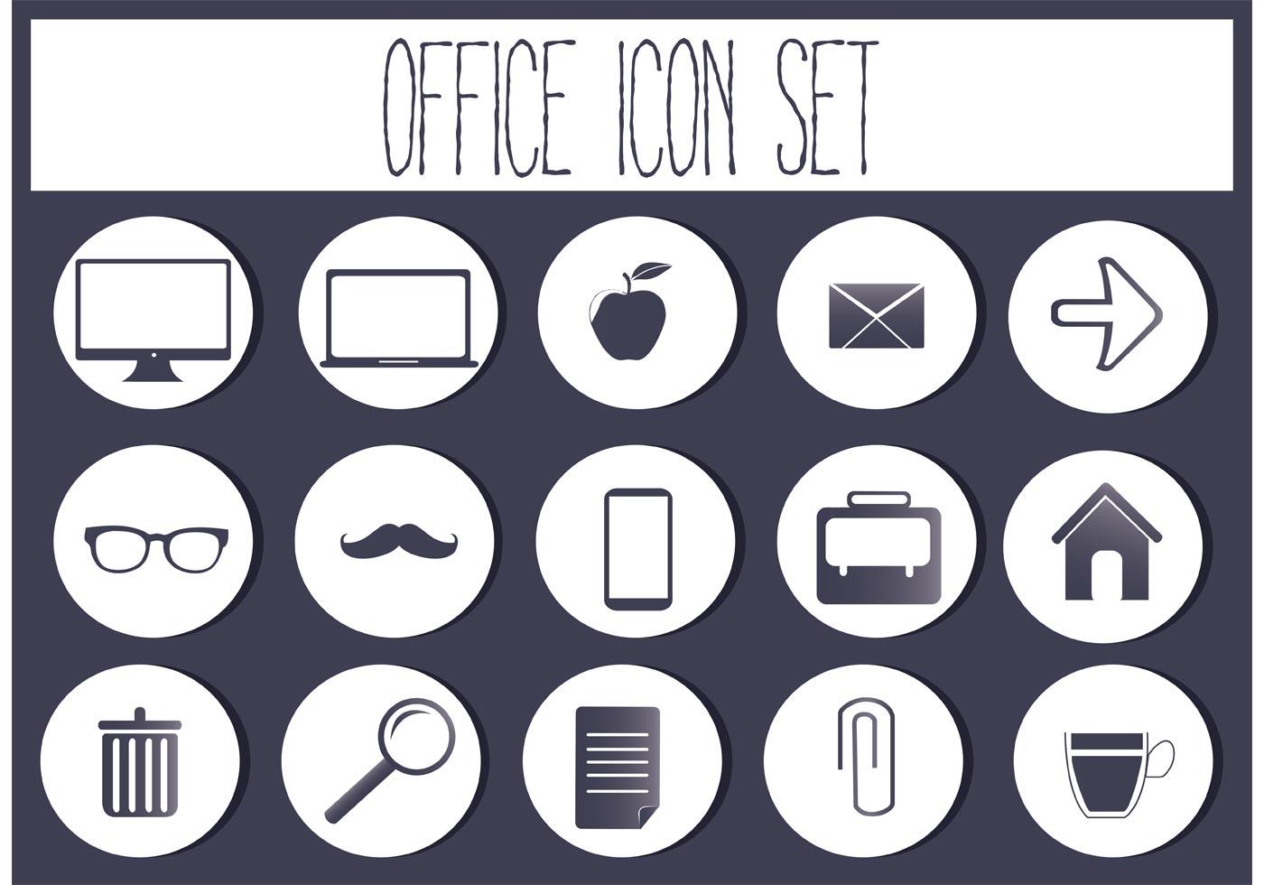 Free Vector Office Icon Set Kostenlose Vektor Kunst Archiv
