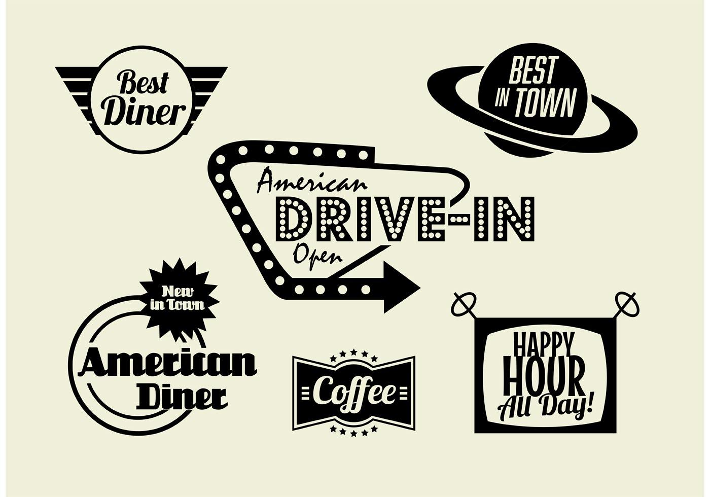 50s diner logos