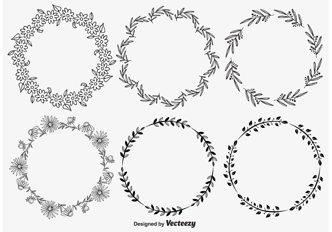 Floral Wreath Free Vector Art 9523 Free Downloads