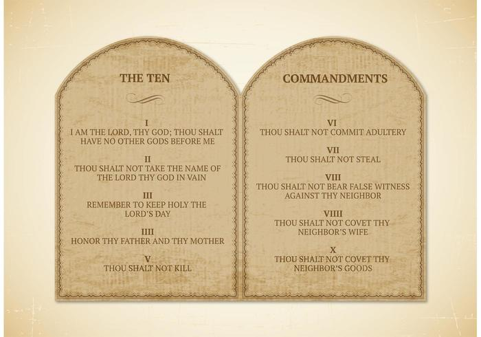 Free 10 Commandments Vector